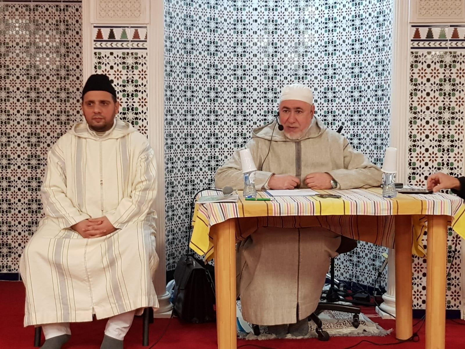 محاضرة قيمة لفضيلة الشيخ الطاهر التجكاني بمسجد حمزة ببروكسيل.