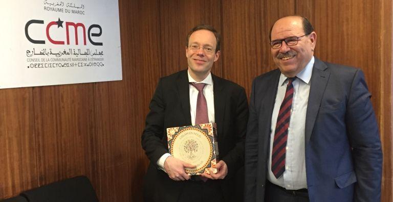 زيارة عمل لمسؤول في الخارجية الألمانية إلى مجلس الجالية المغربية بالخارج.