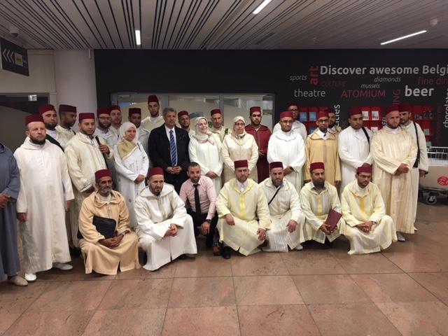 مؤسسة تجمع مسلمي بلجيكا تستقبل بعثة وزارة الأوقاف و الشؤون الإسلامية لإحياء شهر رمضان المعظم.