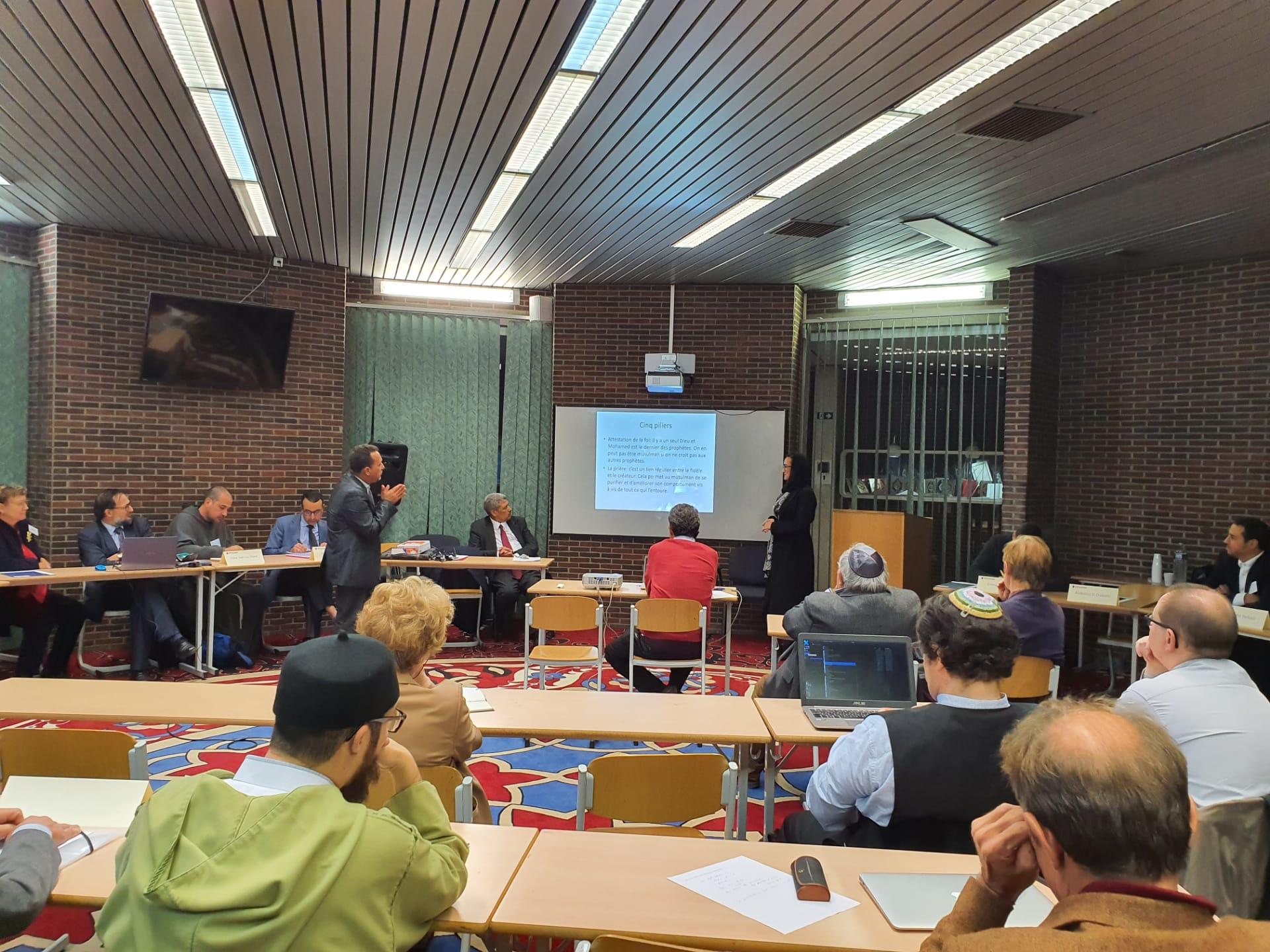 منتدى الأديان وحوار من أجل السلام الروحي في المركز الإسلامي ببروكسيل